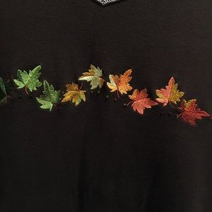 Quacker Factory dark brown with fall leaves 3X